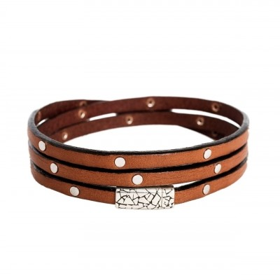Photo of Leather Bracelet Cognac Jannis
