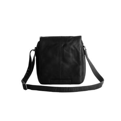 Leather Shoulder Bag Black Bowie
