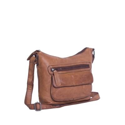 Leather Shoulder Bag Cognac Aliz