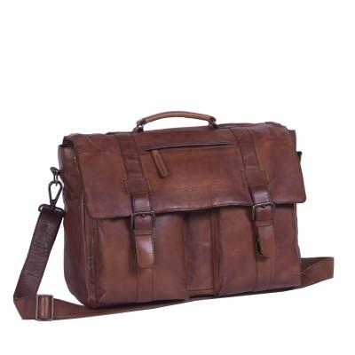 Photo of Leather Shoulder Bag Black Label Cognac Larah