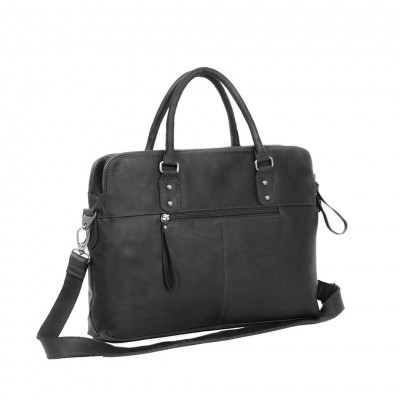 Photo of Leather Laptop Bag Black Stephanie