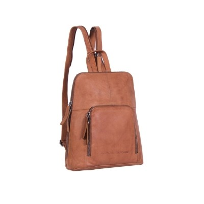 Leather Backpack Cognac Vivian