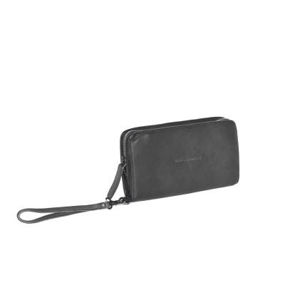 Leather Wallet Anthracite Black Label Chloe