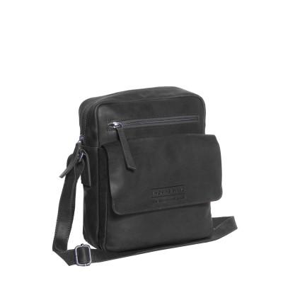 Photo of Leather Shoulder Bag T9 Black Thomas Hayo