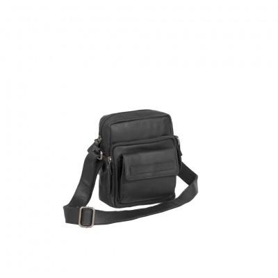 Leather Shoulder Bag Black Anna