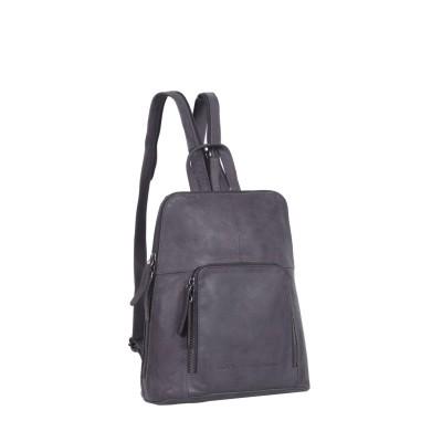 Leather Backpack Navy Medium Ivy