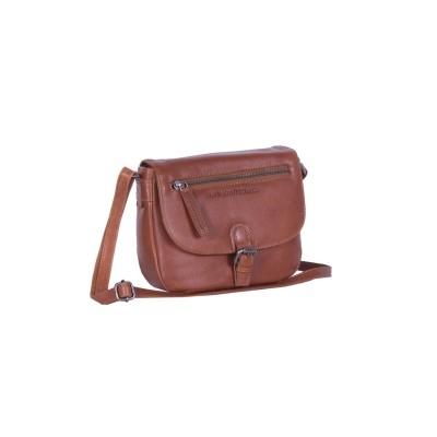 Leather Shoulder Bag Cognac Fay