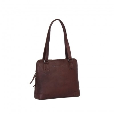 Photo of Leather Shoulder Bag Brown Manon