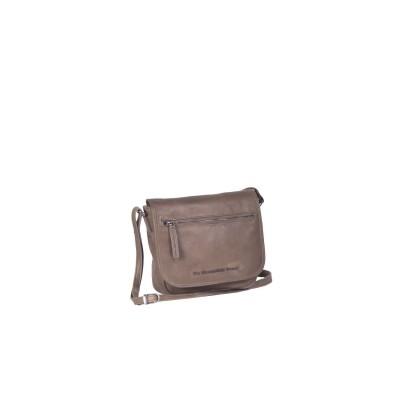 Leather Shoulder Bag Taupe Cis