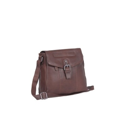 Leather Shoulder Bag Braun Paddy