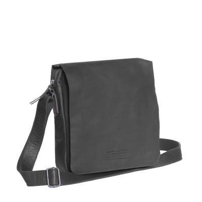Photo of Leather Shoulder Bag T3 Black Thomas Hayo