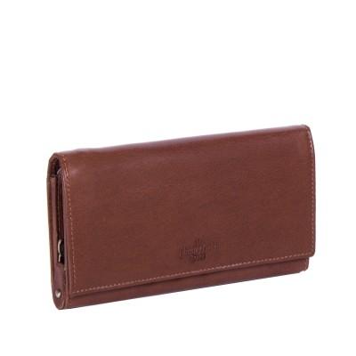 Leather Wallet Cognac Vilai