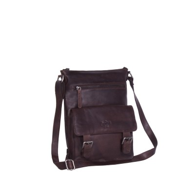 Leather Shoulder Bag Brown Lucy