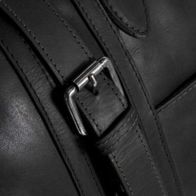 Photo of Leather Travelbag Black Avan