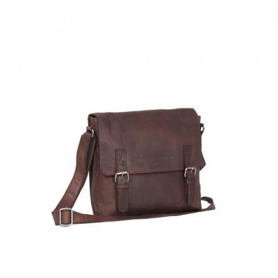 Leather Shoulder Bag Brown Large Alden