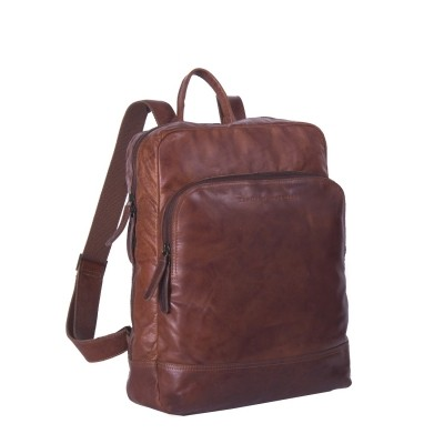 Leather Backpack Cognac Maci
