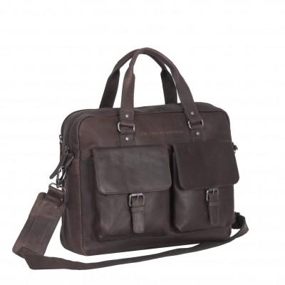 Leather Laptop Bag Brown Dylan