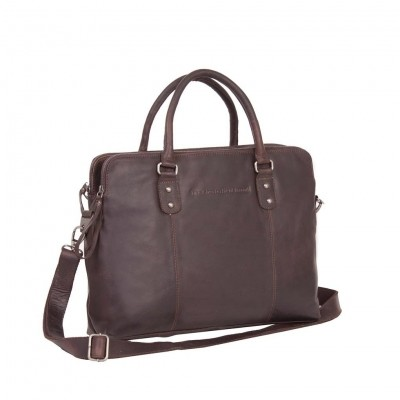 Photo of Leather Laptop Bag Brown Stephanie