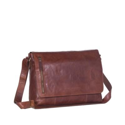 Leather Shoulder Bag Cognac Maha