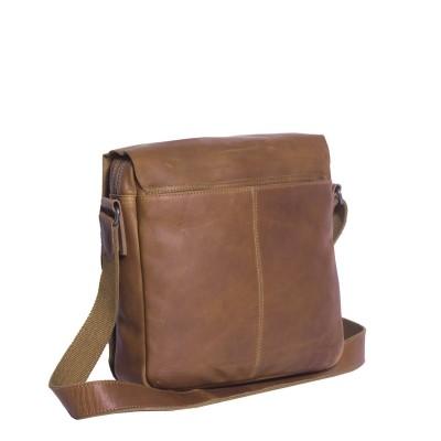 Photo of Leather Shoulder Bag T3 Cognac Thomas Hayo