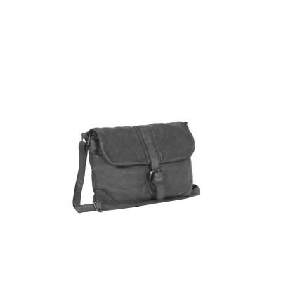 Leather Shoulder Bag Anthracite Laura