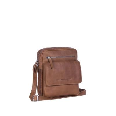 Leather Shoulder Bag Cognac Morgan