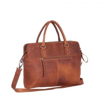 Photo of Leather Laptop Bag Cognac Stephanie