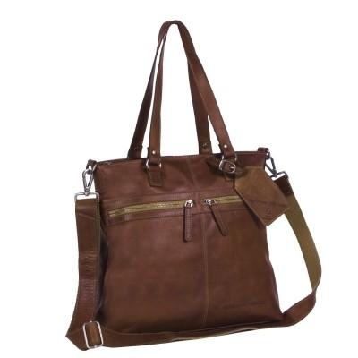 Leather Shopper Bag Cognac Cleo