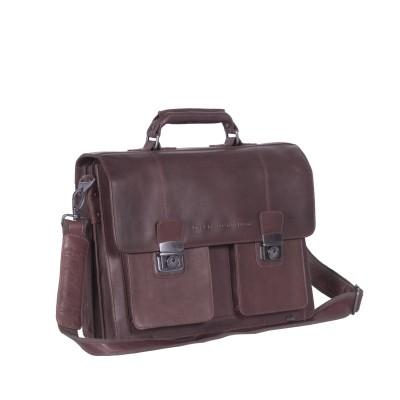 Leren Shoulder Bag Brown Mario