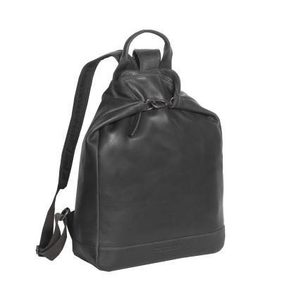 Photo of Leather Backpack T6 Black Thomas Hayo