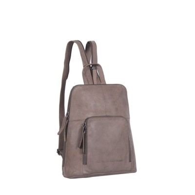 Leather Backpack Taupe Medium Ivy
