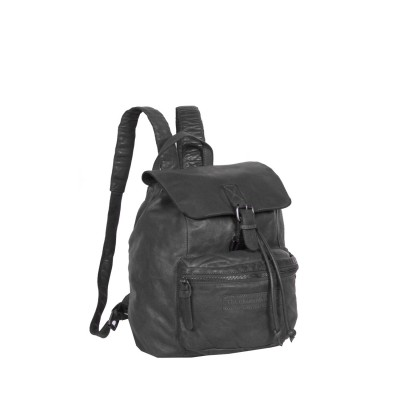 Leather Backpack Anthracite Rose