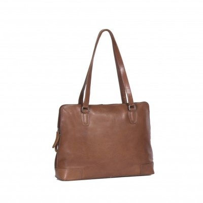 Photo of Leather Shoulder Bag Cognac Flint