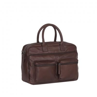 Leather Laptop Bag Brown Julius
