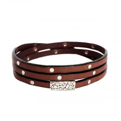 Photo of Leather Bracelet Brown Jannis