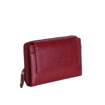 Leather Wallet Red Shannon