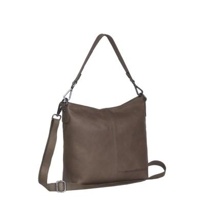 Photo of Leather Shoulder Bag Taupe Jen