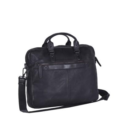 Photo of Leather Laptop Bag Antraciet Black Label Steve