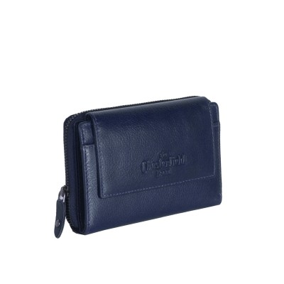 Leather Wallet Navy Shannon