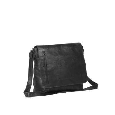 Leather Shoulder Bag Black Maeve