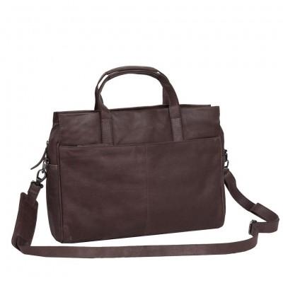 Leather Laptop Bag Brown Damian