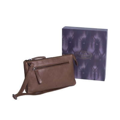 Photo of Leather Shoulder Bag Taupe Nia