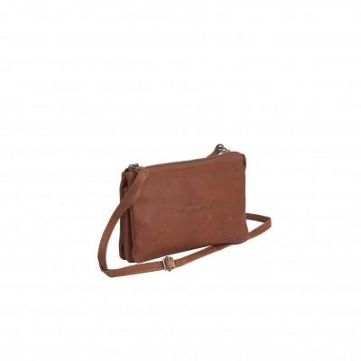 Leather Shoulder Bag Cognac Sadie