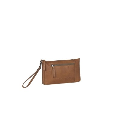 Photo of Leather Clutch Cognac Sky