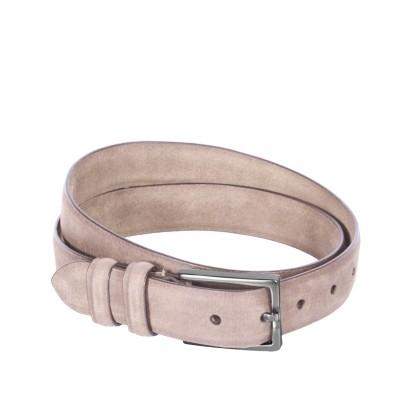 Leather Belt Levi Beige