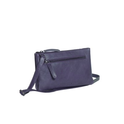 Photo of Leather Shoulder Bag Navy Eira