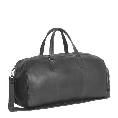 Photo of Leather Weekend Bag T1 Black Thomas Hayo