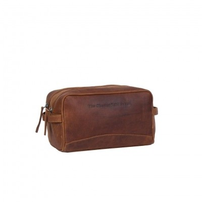 Photo of Leather Toiletry Bag Cognac Stefan