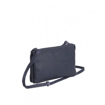 Photo of Leather Shoulder Bag Navy Sadie