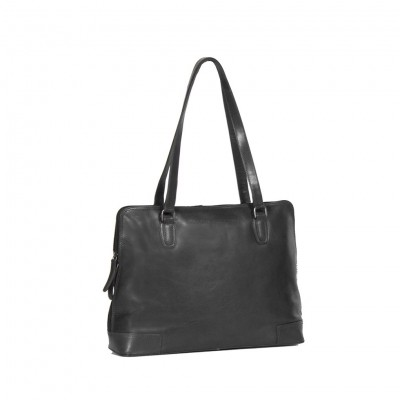 Photo of Leather Shoulder Bag Black Flint
